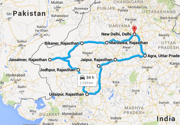 Our trip: 2234 km.