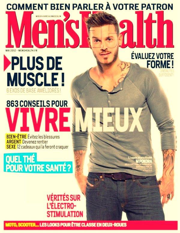Matt en couverture du magasine Men'shalth + Chouette itw et magnifique photoshoot !