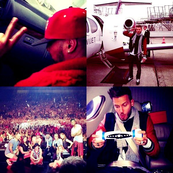 Photos Instagram / Twitter.. ! Matt prend le jet jusque Douai + Photo souvenir.. Matt ne quitte plus son jeux BopIt et Sofiane de retour sur la tournée.. ! + Video promo pour le jeux BopIt