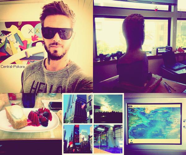 Quand Instagram se transforme en InstaMATT.. ♥ Pendant son séjour a NY, Matt s'est blessée pendant son entrainement, au repos forcé pendant quelque jours.. :(  ! Il est est de retour à Paris et à enchaînée directement avec un RDV au musée Grévin sa stature prend forme.. !