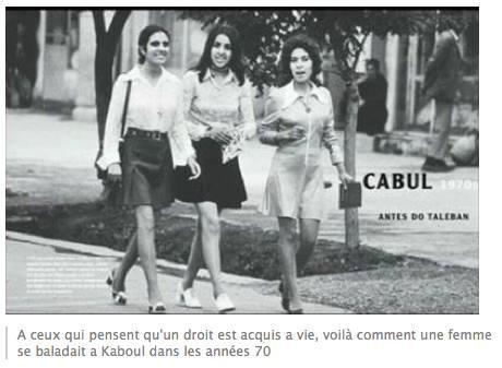 Voici Kaboul  dans les années 70 et de nos jours