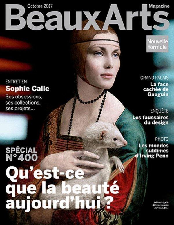 Couverture du magazine Beaux Arts d'Octobre 2017