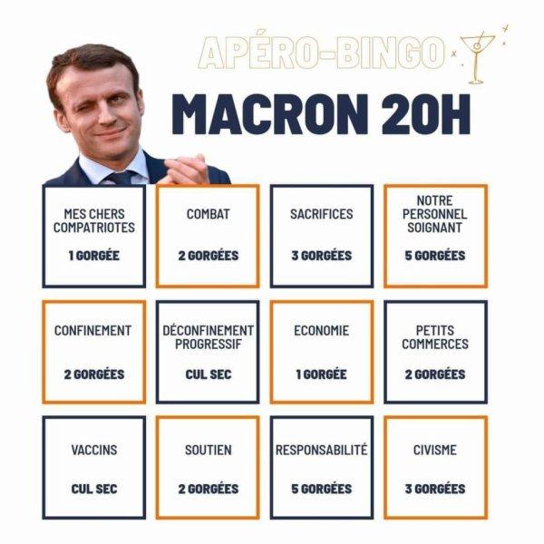 A chaque discours de Macron ...