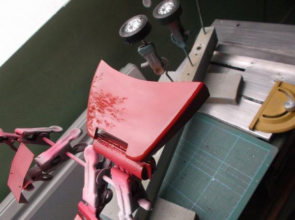 maquette mp3 petite et grande cabine !! 05 !! premières pièce peinte et vernis sur la petite cabine !!