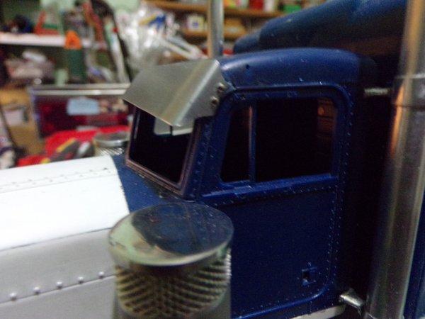 US 49 !! fabrication d'un visière en tôle d'alu 0.3 mm d'épaisseur !!