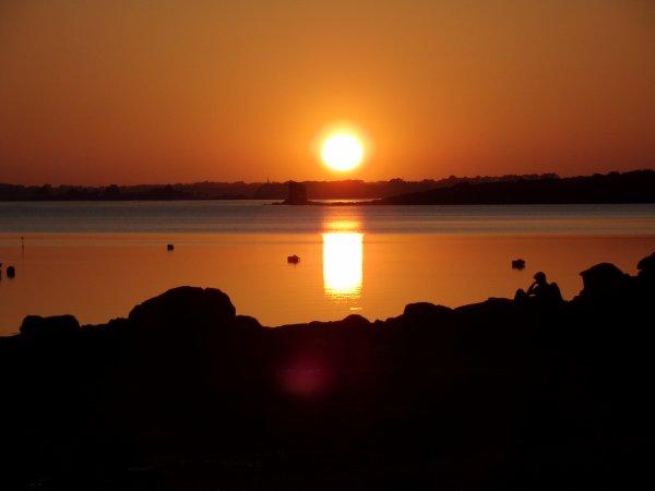 couché de soleil dans le golfe du Morbihan !!!!!