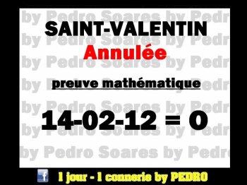 Saint-Valentin annulée!