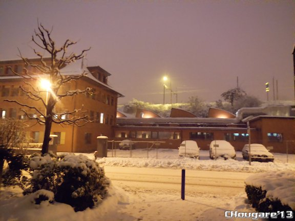 Lausanne sous la neige