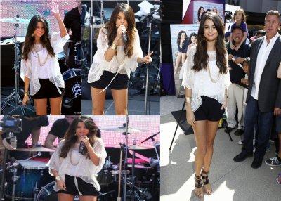 Selena Gomez donne un concert pour ses fans à Santa Monica, le 13 juin 2011. ton avis TOP ou FLOP pour sa sra un beau TOP !