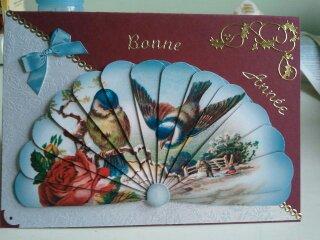 Petite carte de bonne année