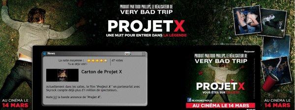 Evènement > Film Skyrock - Projet X (Sortie en DVD et BluRay le 18 Juillet)