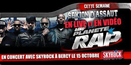 Planète Rap > Semaine du 10 au 15 Septembre - Sexion d'Assaut