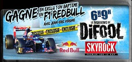 L'Actu > Le bapteme F1 RedBull de Jean-Eric Vergne avec Kenza Farah !