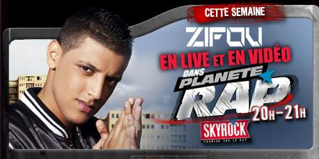 Planète Rap > Zifou - Semaine du 8/10/12 au 12/10/12