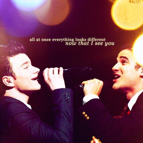 Blaine & Kurt.