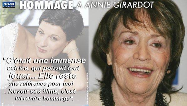 HÉLÈNE MÉDIGUE (EX-CHARLOTTE) REND HOMMAGE À ANNIE GIRARDOT