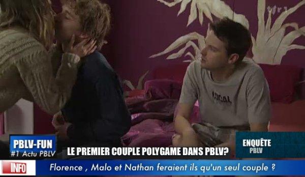 POUR LA PREMIÈRE FOIS DANS PLUS BELLE LA VIE: ''UN COUPLE À 3'' NATHAN , MALOT ET FLORENCE