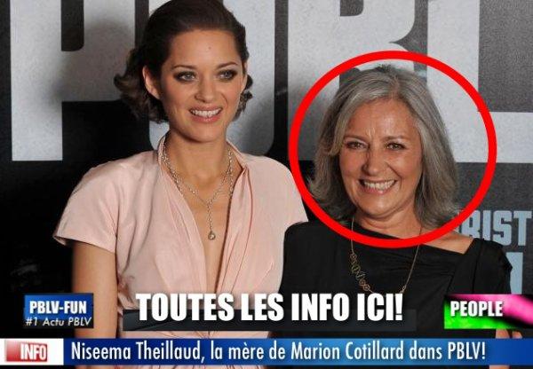 BIENTÔT: LA MÈRE DE MARION COTILLARD DANS PLUS BELLE LA VIE !