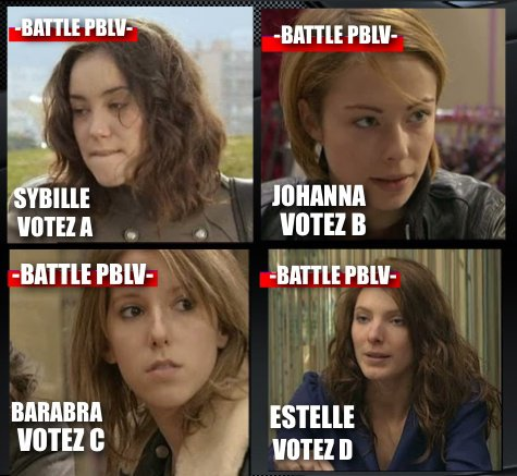 -BATTLE PBLV- PREMIÈRE SEMAINE: VOTEZ POUR LE GROUPE DES JEUNES FEMMES DU MISTRAL