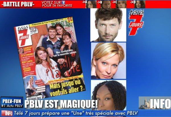 QUAND LE MAGAZINE TÉLÉ 7 JOURS FAIT SA UNE AVEC PBLV AVEC UN BONUS TRÈS ORIGINALE ...