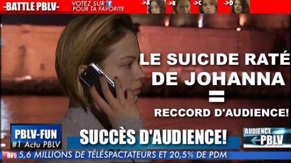 PLUS BELLE LA VIE AU TOP ! BONNE AUDIENCE POUR L'ÉPISODE DE LA TENTATIVE DE SUICIDE DE JOHANNA
