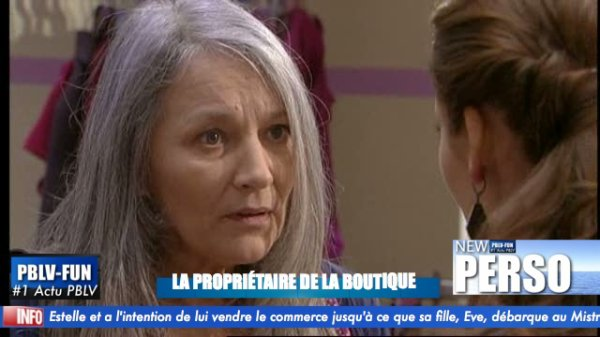 LA PROPRIÉTAIRE DE LA BOUTIQUE DE MISTRAL DÉBARQUE DANS LA SÉRIE
