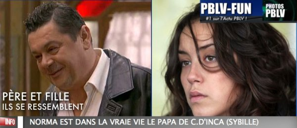 C. D'INCA ET PASQUALE D'INCA , SYBILLE RESSEMBLE À SON PAPA !