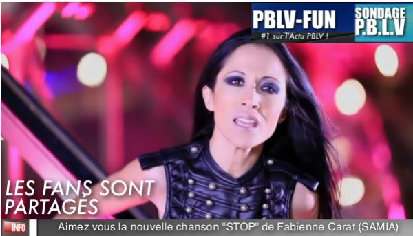 SONDAGE: Les fans sont partagés sur le nouveau tube de Fabienne Carat