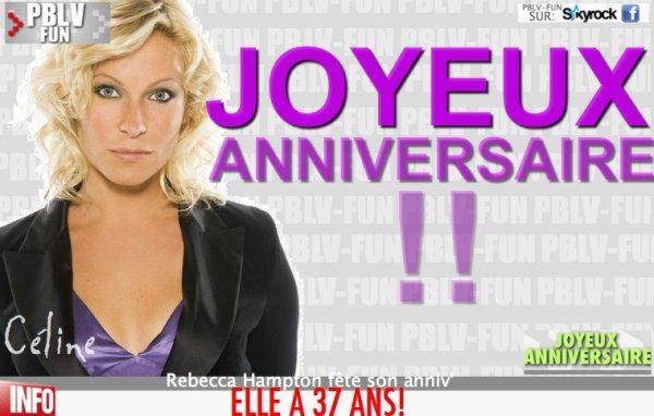 ANNIVERSAIRE: Céline fête ses 37 ans!