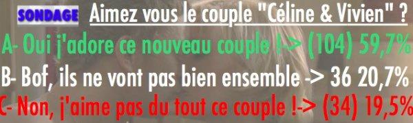SONDAGE: AIMEZ VOUS LE COUPLE CÉLINE/VIVIEN ?