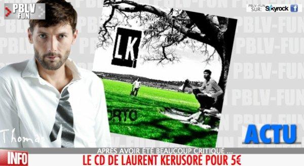 Le CD de Laurent Kerusore (Plus belle la vie) est dispo !