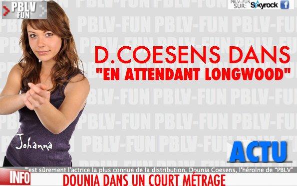 DOUNIA COESENS DANS UN COURT MÉTRAGE
