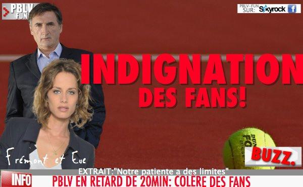 "ROLAND GARROS RETARDE PBLV: ""INDIGNATION DES FANS"""