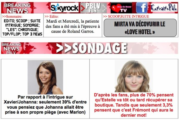 BREAKING NEWS PBLV SUR: FACEBOOK/PBLV-FUN/COUP DE COEUR TV// EXTRAITS PBLV