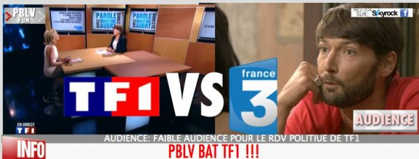 AUDIENCE: TF1 BATTU PAR PBLV !
