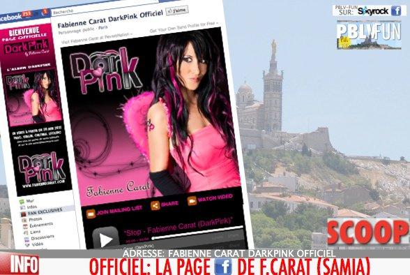 OFFICIEL: LA PAGE FACEBOOK DE F.CARAT (SAMIA) ICI !