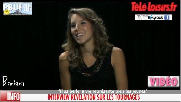 """Léa François : """"Plus belle la vie représente bien les jeunes"""" (VIDEO)"""