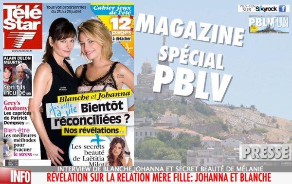 RÉVÉLATION SUR LA RELATION JOHANNA/BLANCHE DANS TÉLÉ STAR