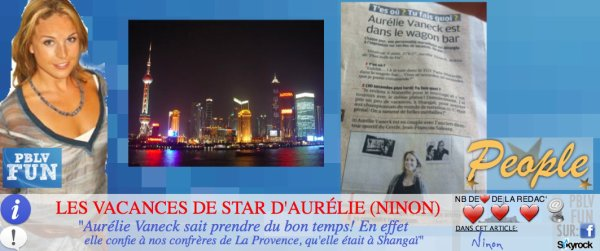 LES VACANCES DE STAR D'AURÉLIE VANECK (NINON)