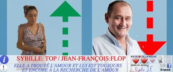 LE BAROMÈTRE: SYBILLE EST AU TOP ET JEAN-FRANÇOIS FAIT UN FLOP!