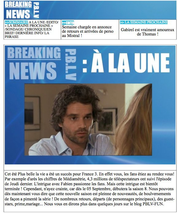 BREAKING NEWS PBLV SUR PBLV-FUN/FACEBOOK/COUP DE COEUR TV/ EXTRAITS PBLV