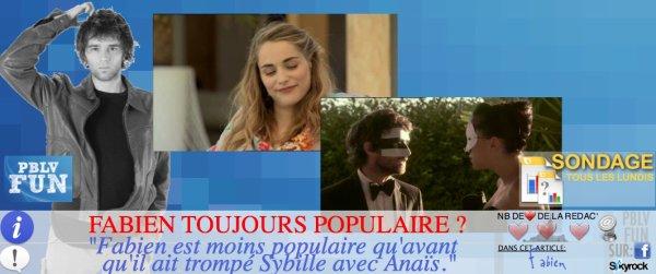 SONDAGE: CÔTE DE POPULARITÉ DE FABIEN