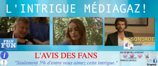 SONDAGE: LES FANS NE SUPPORTENT PLUS L'INTRIGUE ''MÉDIAGAZ""