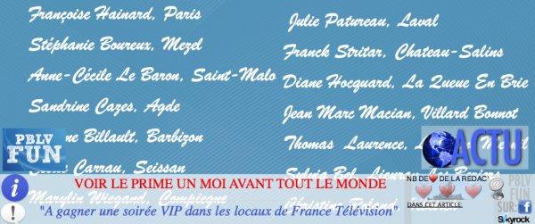 "CONCOUR: SOIRÉE PBLV VIP ""LES GAGNANTS"""
