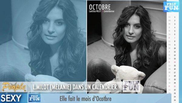 """PEOPLE:L.MILOT (MÉLANIE) DANS LE CALENDRIER """"EUX POUR EUX"""""""