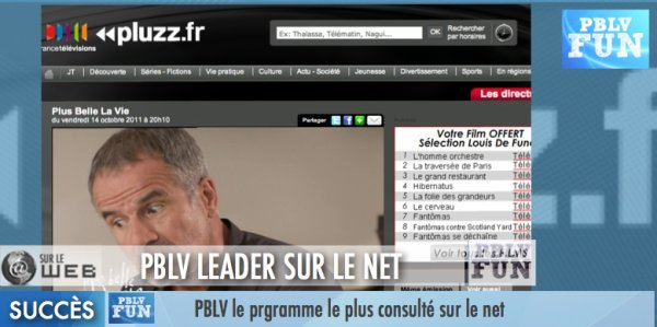 PBLV: LEADER SUR LES REPLAYS