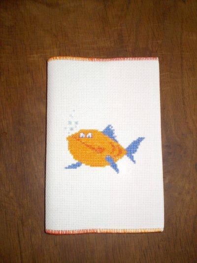 """""""Poissons orange"""" 9 x 14 cm (A-Z) - 100 pages petits carreaux (couverture vernie lavable) - Vendu : 8 euros 85 port compris"""