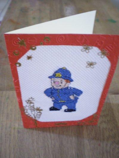 """"""" Monsieur le Gendarme de Oui-Oui"""" """" 11 x 15,5 cm, avec enveloppe. Vendu : 5 euros 40 port compris"""