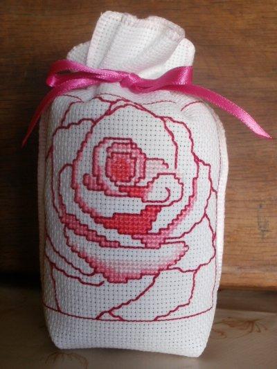 """"""" Rose 1 """" ( 10,5 x 15 cm ). Plaisir d'offrir"""