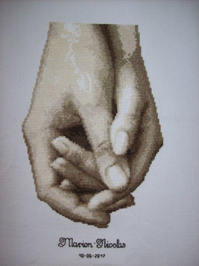 Main dans la main 17 x 25 cm
